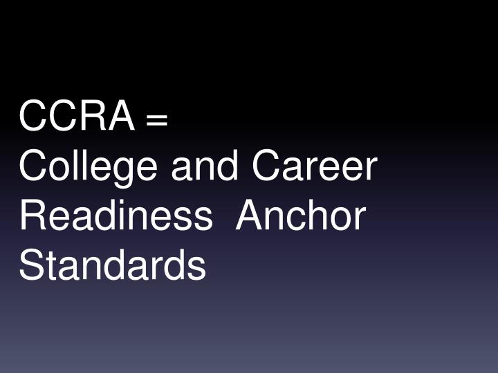 CCRA =