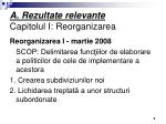 a rezultate relevante capitolul i reorganizarea