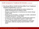 sose compared to traditional se activities continued1