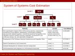 system of systems cost estimation