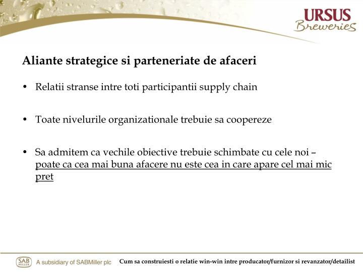 Aliante strategice si parteneriate de afaceri