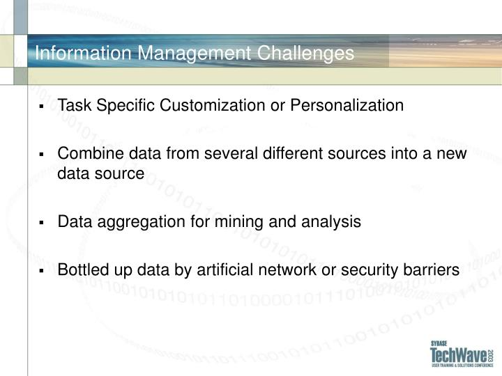 Information Management Challenges