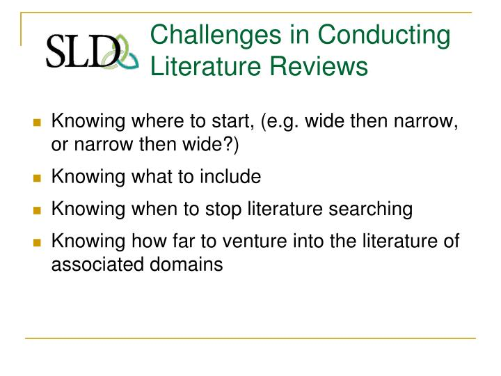 challenges related to conducting a literature review