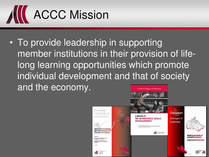 ACCC Mission