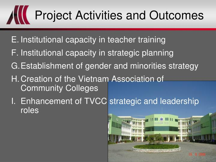 Project Activities and Outcomes