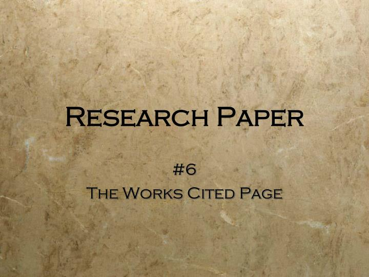 research paper n.