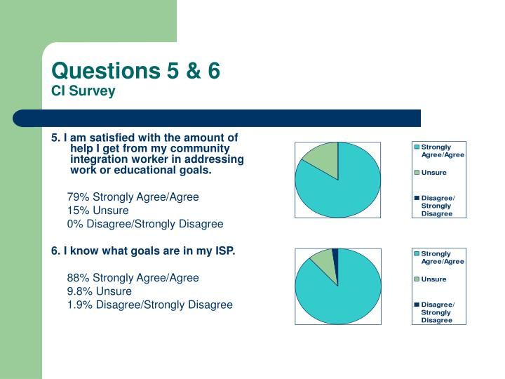 Questions 5 & 6