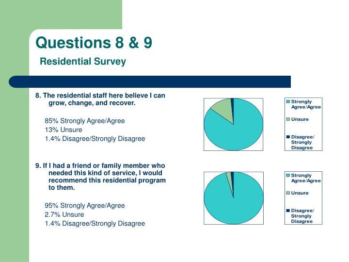Questions 8 & 9