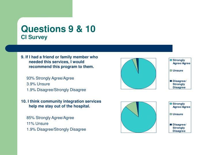 Questions 9 & 10