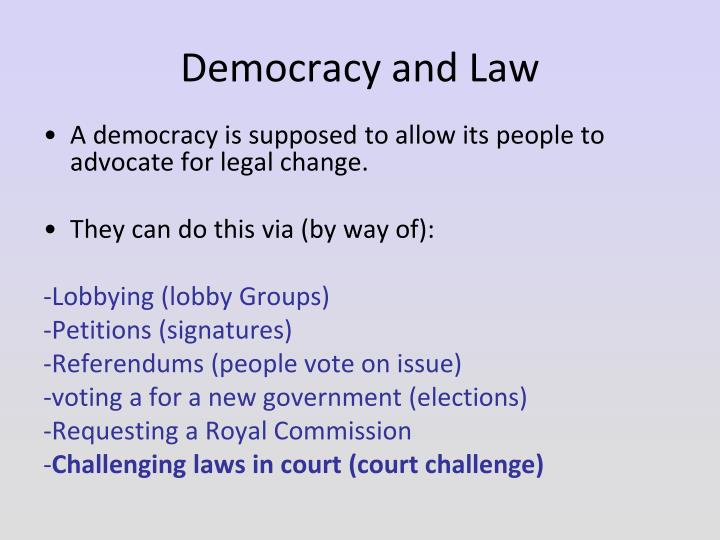 Democracy and Law