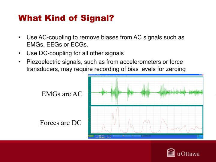 What kind of signal