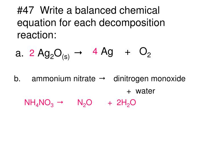 Ppt 42 The Equation For The Formation Of Water From Its Elements