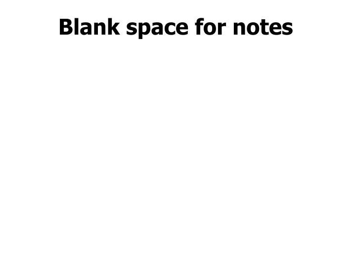 Blank space for notes