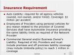 insurance requirement