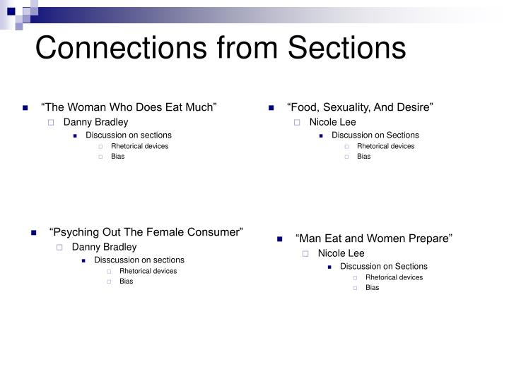 Connections from Sections