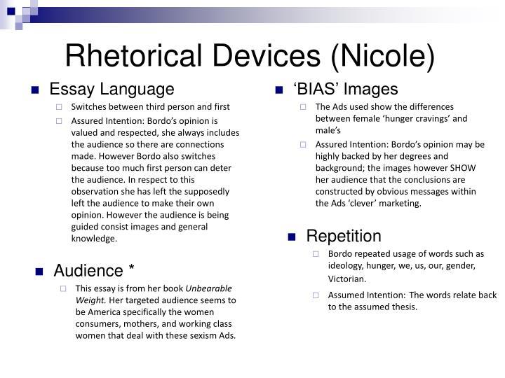 Rhetorical Devices (Nicole)