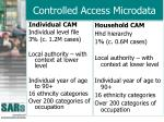 controlled access microdata
