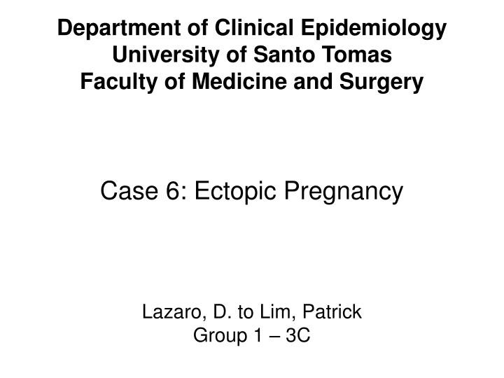 Department of Clinical Epidemiology