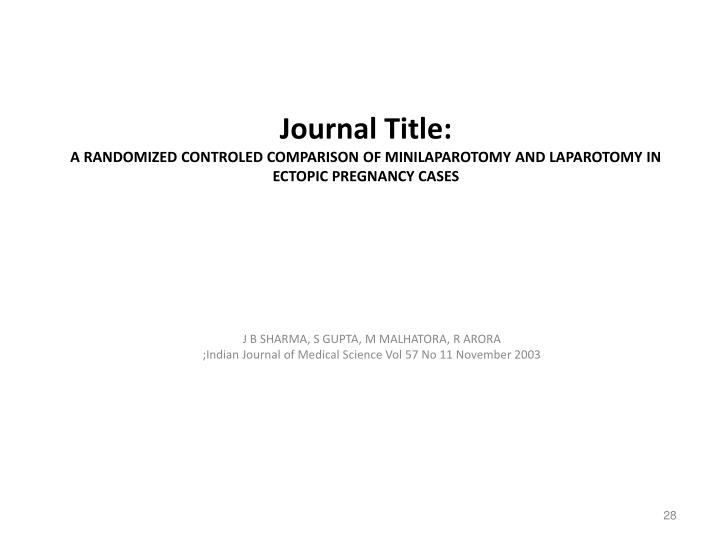 Journal Title: