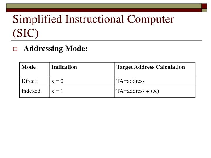 Simplified Instructional Computer (SIC)