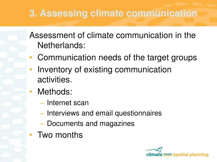 3. Assessing climate communication