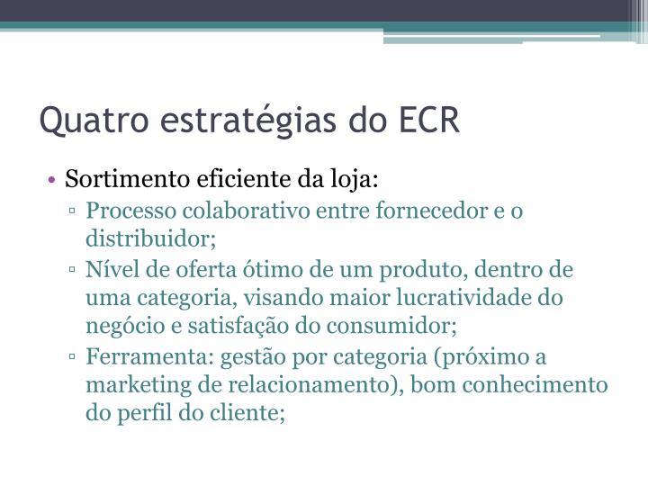 Quatro estratégias do ECR