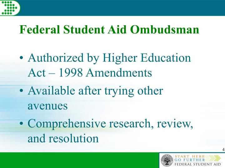 Federal Student Aid Ombudsman