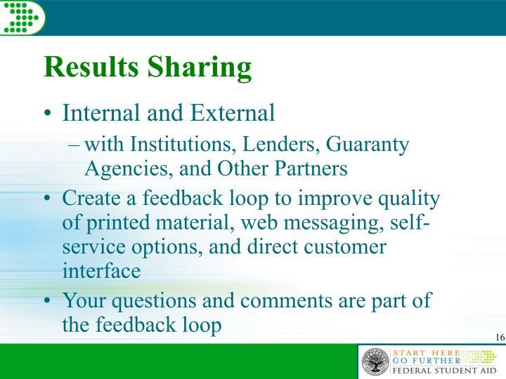 Results Sharing