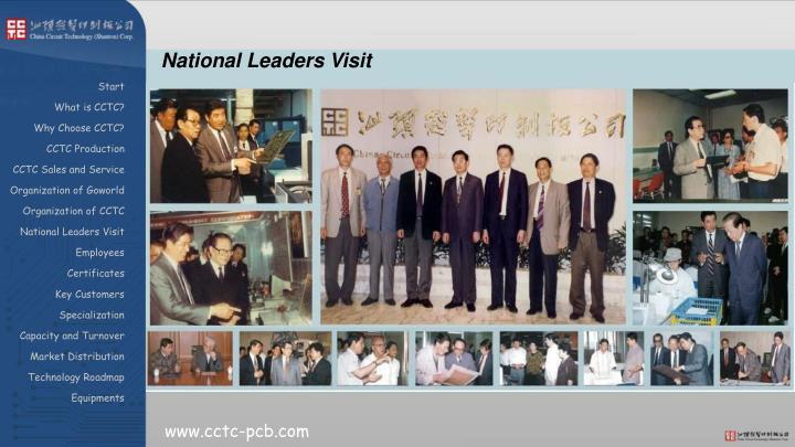 National Leaders Visit