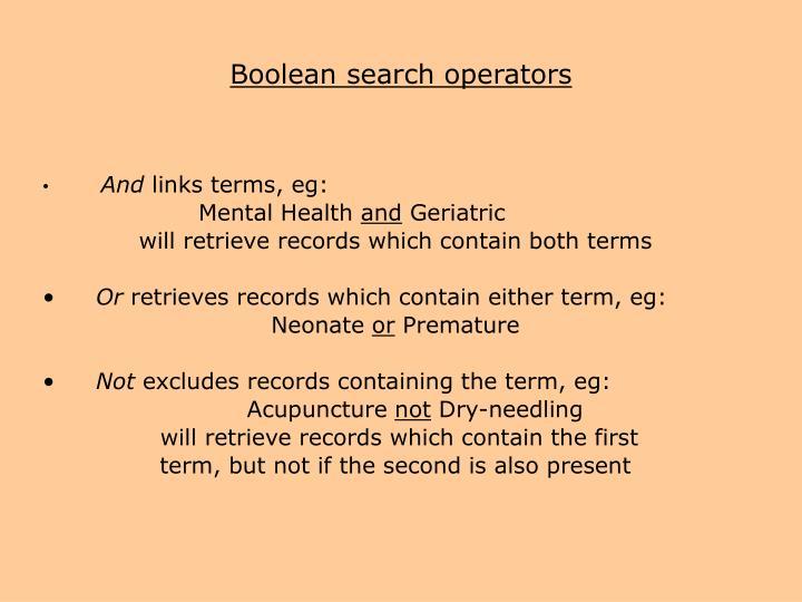 boolean search operators