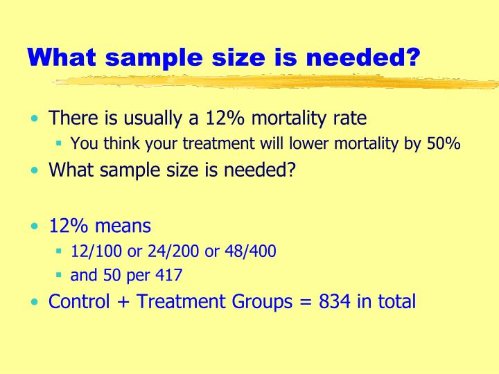 What sample size is needed?