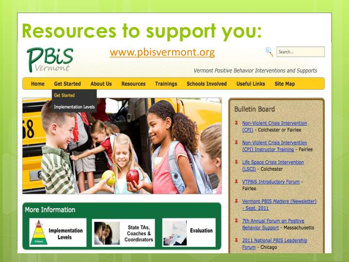 Resources to support you: