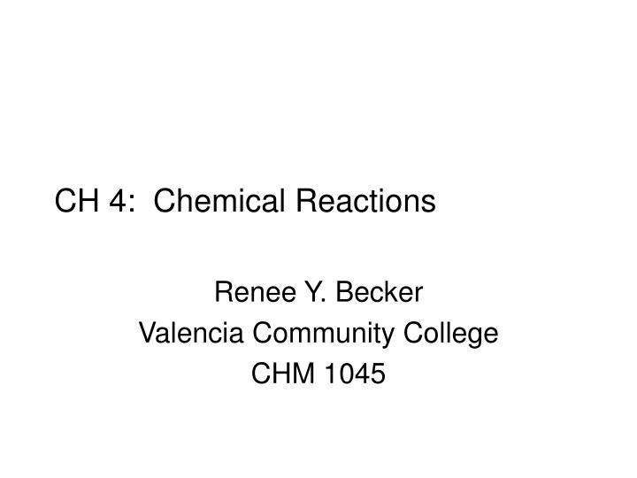 ch 4 chemical reactions n.