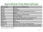 agricultural crop descriptions