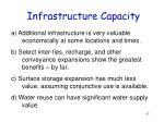 infrastructure capacity