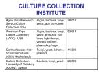 culture collection institute