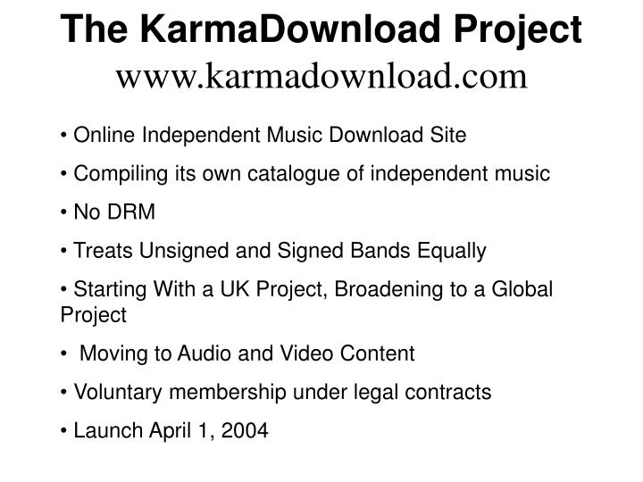 The KarmaDownload Project