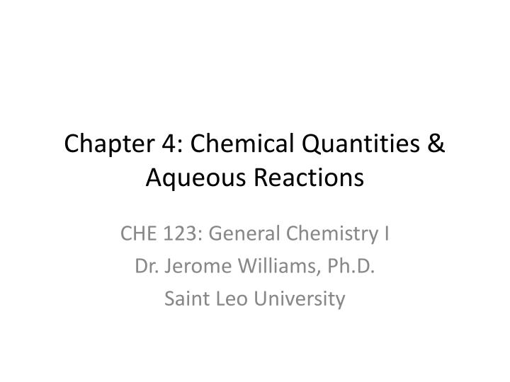 chapter 4 chemical quantities aqueous reactions n.