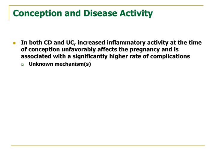 Conception and Disease Activity
