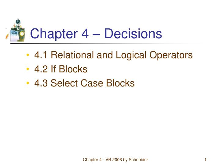 chapter 4 decisions n.