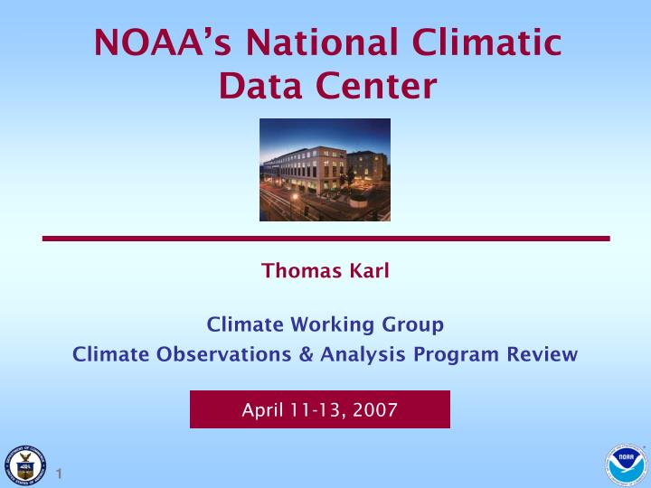NOAA's National Climatic