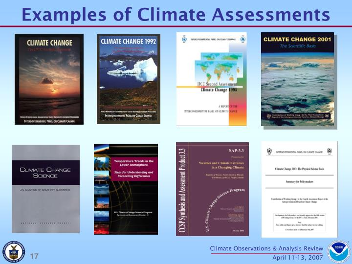 Examples of Climate Assessments