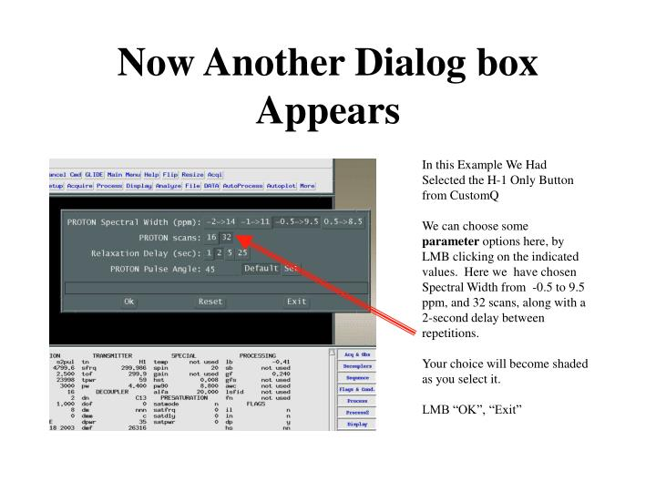 Now Another Dialog box Appears