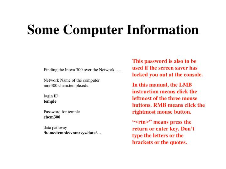 Some computer information