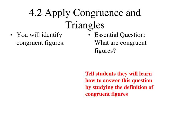 4 2 apply congruence and triangles