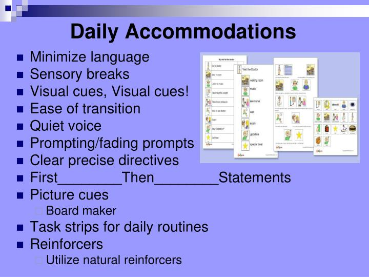 Daily Accommodations