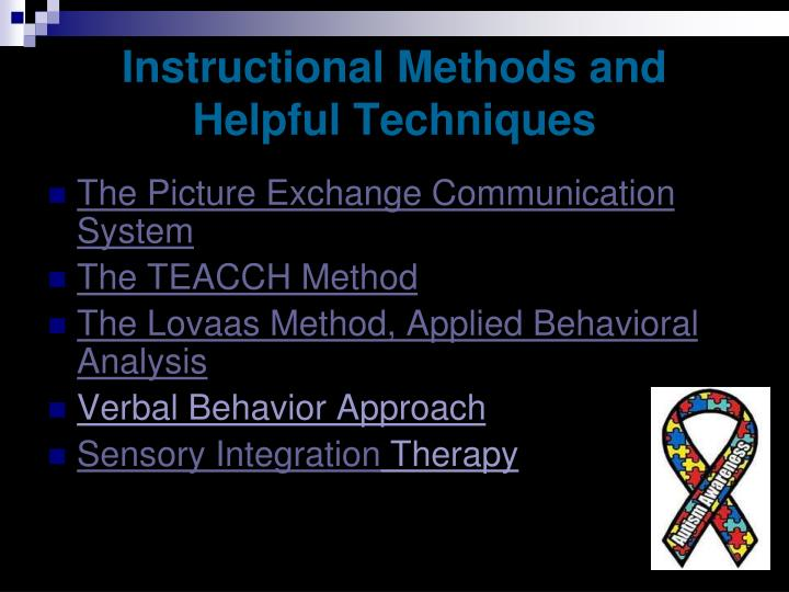 Instructional Methods and Helpful Techniques