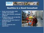 qualities in a good consultant