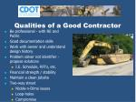 qualities of a good contractor