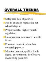 overall trends